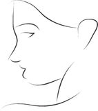 Enkel konturkvinna Arkivfoto