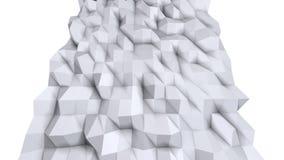 Enkel låg poly yttersida 3D som geometriskt ingrepp Mjuk geometrisk låg poly bakgrund av rena vita gråa polygoner full hd 4K vektor illustrationer