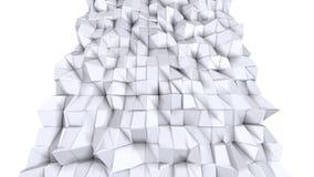 Enkel låg poly yttersida 3D som geometriskt raster Mjuk geometrisk låg poly bakgrund av rena vita gråa polygoner full hd 4K royaltyfri illustrationer