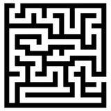 Enkel labyrint Arkivbilder