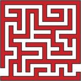 Enkel labyrintlabyrint royaltyfri bild