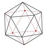 Enkel linje illustration - polygon för vektor stock illustrationer