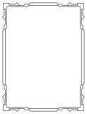 Enkel lodlinje för vektorsvartram Royaltyfri Foto