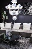 Enkel lokal med sofaen i modern stil Arkivfoton