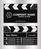 Enkel mall för känt kort för clapperboardtemaaffär för filmdirektör Royaltyfria Foton