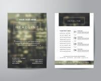 Enkel mall för orientering för design för reklamblad för suddighetsbakgrundsbroschyr in Royaltyfri Fotografi