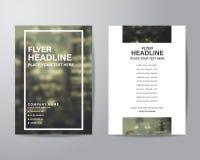 Enkel mall för orientering för design för reklamblad för suddighetsbakgrundsbroschyr in Arkivbild