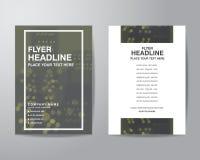 Enkel mall för orientering för design för reklamblad för suddighetsbakgrundsbroschyr in Royaltyfria Bilder