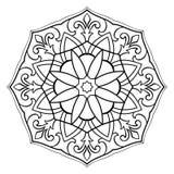 Enkel mandala för vektor Royaltyfri Fotografi
