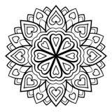 Enkel mandala för vektor Royaltyfri Bild