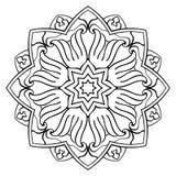 Enkel mandala för vektor Royaltyfria Bilder