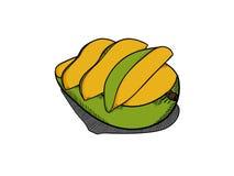Enkel mangoillustration royaltyfri illustrationer