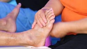 Enkel massagefot av Thailand lager videofilmer