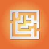 enkel maze Arkivfoton
