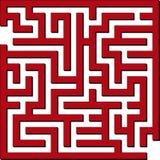 enkel maze Arkivbild