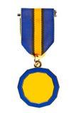 enkel medalj arkivfoto