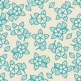 Enkel minimalistic sömlös blom- modell Royaltyfria Foton