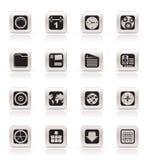 enkel mobil telefon för datorsymbolsinternet vektor illustrationer