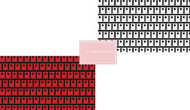 Enkel modern abstrakt modern röd och vit vågmodell Royaltyfri Bild
