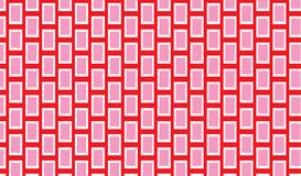 Enkel modern abstrakt stam- modell för röd och rosa våg stock illustrationer