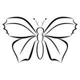 Enkel modern fjärilslogo Arkivbilder
