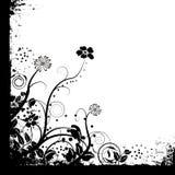 Enkel mono bloemen royalty-vrije illustratie