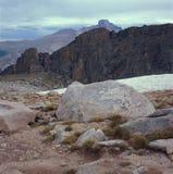 Enkel onder de top van Berg Met platte kop, Continentale Waterscheiding, Rocky Mountain National Park, Colorado Stock Foto