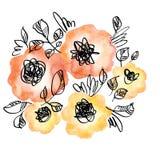 Enkel orange färg blommar buketten Royaltyfri Foto