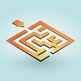 Enkel orange labyrint Arkivbild