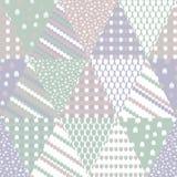 Enkel pastellfärgad blom- modell för gullig barnslig textil eller scrapbooking bakgrund Royaltyfri Fotografi