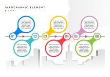 Enkel plan färg för Infographic beståndsdel stock illustrationer