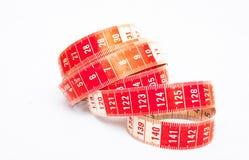 Enkel röd och vit måttband Arkivbild