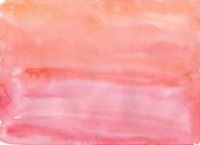 Enkel röd vattenfärgbakgrund Arkivbilder
