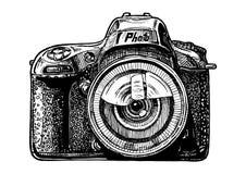 enkel reflex för kameralins Arkivbild