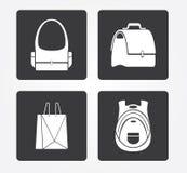 Enkel rengöringsduksymbol i: shoppingkorg royaltyfri foto