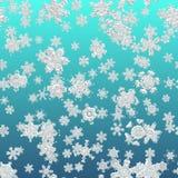 Enkel sömlös modell för snöflinga royaltyfri illustrationer