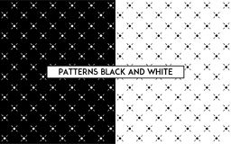 Enkel sömlös modell med pricken och linjer i svartvitt Arkivbild