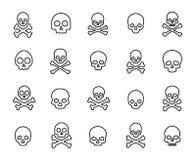 Enkel samling av den död släkta linjen symboler stock illustrationer