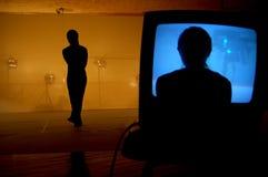 enkel silhouette Arkivbild