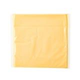 Enkel skiva av bearbetad ost Fotografering för Bildbyråer