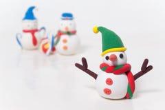 enkel snowman Royaltyfri Foto