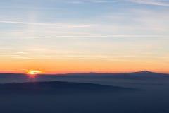 enkel solnedgång Royaltyfri Foto