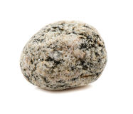 Enkel sten som isoleras på vit bakgrund Royaltyfri Foto