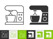 Enkel svart linje vektorsymbol för matberedare royaltyfri illustrationer