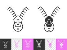 Enkel svart linje vektorsymbol för vinandehållare royaltyfri illustrationer