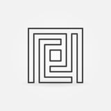 Enkel symbol för labyrint Royaltyfri Fotografi