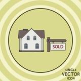 Enkel symbol för vektorfärglägenhet verklig försäljningsvektor för gods stock illustrationer