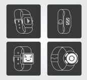 Enkel symbol: Smart klocka Royaltyfri Fotografi