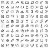 Enkel symbolsset vektor illustrationer