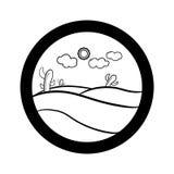 Enkel symbolsuppsättning för landskap Arkivfoto